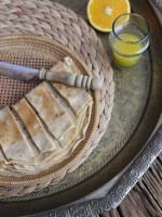 Käsige Palatschinken aus Buchweizen- und Dinkelmehl, unser Spezialgericht