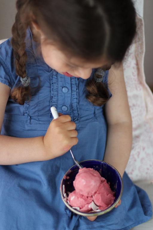 zuckerfreies veganes gesundes Erdbeereis 5