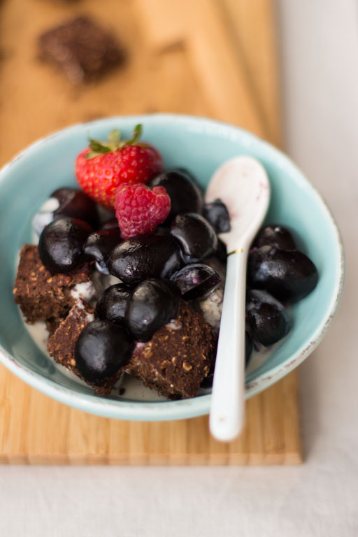 natürich gesüßte fettarme leckere Brownies