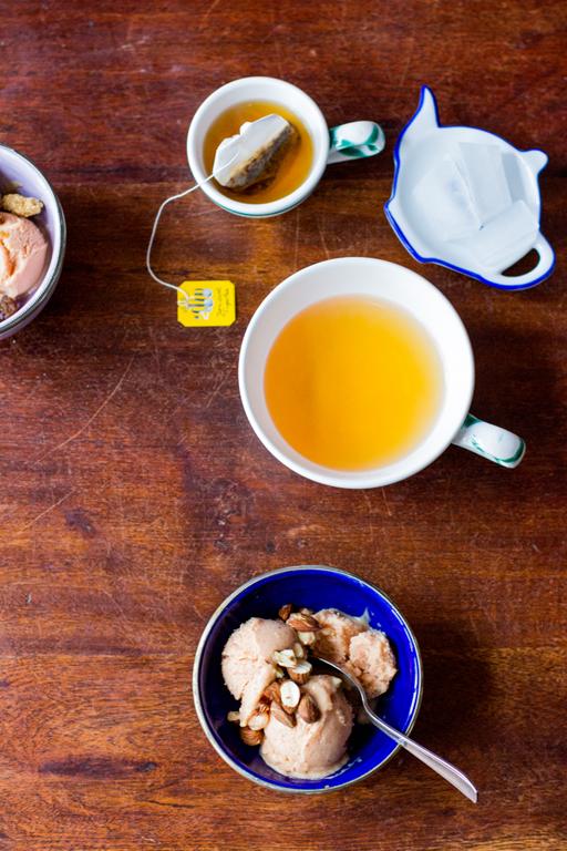 Frozen Joghurt mit Nektarinen Gesund kochen ist Liebe